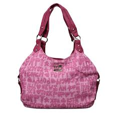 Latest Coach Fashion Poppy Signature Medium Pink Shoulder Bags Enl Sale  qs0xQ