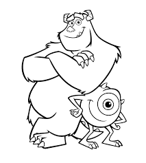 Kleurplaat Monsters En Co Pixar 970
