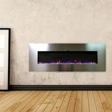 stainless steel electric fireplace stainless recessed electric fireplace touchstone home products northwest 36 stainless steel electric