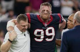Houston texans defensive end j.j. Nfl Player J J Watt Tells Houston He S Devastated After Serious Injury Huffpost