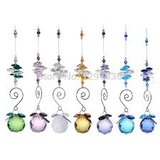7pcs lot 30mm rainbow window suncather chandelier parts lighting ball crystal prisms crafts hanging pendant