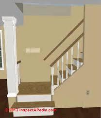 Stair Landing dimensions (C) InspectApedia.com R.N.
