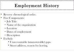 Current Resume Employment History Trends 2015 Dwighthowardallstar Com