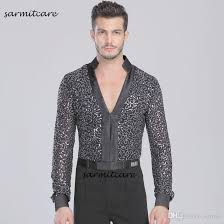 Men s latin dance shirt