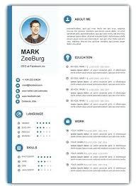 Modern Resume Templates Free Word Free Download Word Resume Template Download Word Resume Format Free