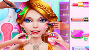 rich fashion mall play makeup dress up beauty salon hair care games for s