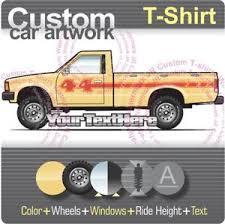 Custom T-shirt 80-1986 Datsun Nissan 720 long bed pickup truck 4 ...