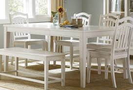 Small Picture White Dining Room Table With Bench And Chairs Home Decorating
