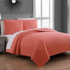Buy Coral Quilt Bedding from Bed Bath & Beyond & Fenwick King Quilt Set in Coral Adamdwight.com