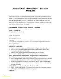 Meteorologist Sample Resume Magnificent Free Sample Of A Resume Also Combination Sample Resume For Prepare