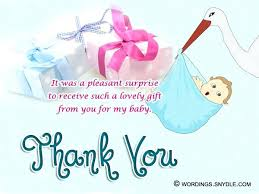 Baby Gift Thank You Note Thank You Note For Baby Shower Writersplanet Org