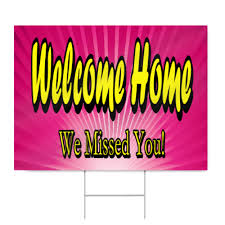 Hospital Welcome Home Sign In Pink Signstoyou Com