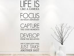 Wandtattoo Life Is Like A Camera Wandtattoode
