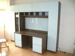 home office solution. Desk With Storage Resemblance Of Wall Unit Smart Solution For Home Office White Ikea Shelves Solut