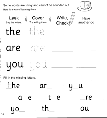 Have the students trace the words as homework exercise. Jolly Phonics Workbook 3 G O U L F B