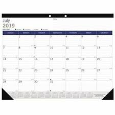 Monthly Academic Calendar Details About Duraglobe Monthly Desk Pad Academic Calendar 13 Month July 2019 2020 22 X 17