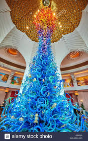 full image for alabaster chandelier lighting glass sculpture by artist dale chihuly in the royal towers