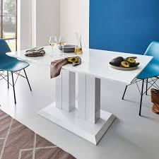 Moebella Hochglanz Esstisch Tisch Marbella 140x80cm Lack Weiss
