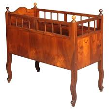 antique baby bed century cradle baby cot in walnut for vintage race car baby bedding