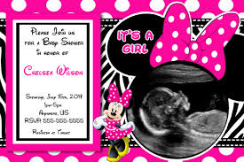 Minnie Mouse Baby Shower Decorations Minnie Mouse Baby Shower Invitations Hollowwoodmusiccom