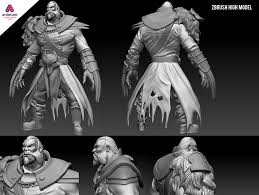 3d high model sculpt lycan dota 2 domestika