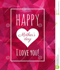 Happy Mothers Day Poster Design Happy Mothers Day Poster Low Poly Background Modern Design