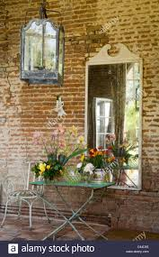 red brick furniture. Delighful Red Wrought Iron Garden Furniture And Large Lantern Along Red Brick Exterior Of  French Country House  To Red Brick Furniture W