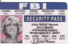 Novelty Toy Card Id Identification d J Ebay Prop Edgar Fun Hoover Fbi I