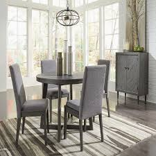 round kitchen table set for 6 realistic besteneer dark gray 6 pc round dining table 4 upholstered side ideas