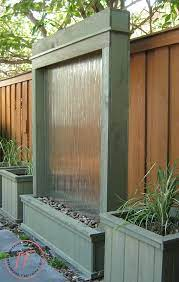 diy outdoor water wall privacy screen