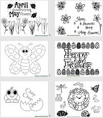 Spring Activities for Kids - Printables and Games with Spring Theme