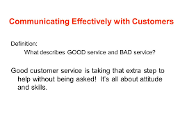 Definition Of Good Customer Services Customer Service Ppt Video Online Download
