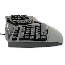 Ergonomic Split Design Keyboard W Antimicrobial Protection 105 Keys Black Fellowes 98915 Ergonomic Split Design Keyboard W_antimicrobial Protection 105 Keys Black