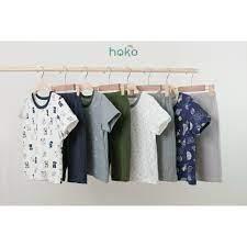 Đồ bộ bé trai, hoạ tiết, quần áo trẻ em, mặc nhà, đi học, đi chơi cho bé  trai, bé gái từ 1 đến 8 tuổi hokokids chính hãng 180,000đ