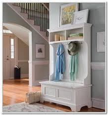 Foyer Benches With Coat Racks Storage bench with coat rack plus coat and shoe storage plus 28