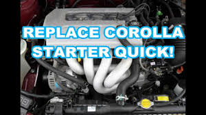 STARTER REPLACEMENT 1999 Toyota Corolla 98-08 1998 2000 2001 2002 ...