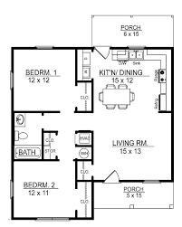 simple 2 bedroom building plan small floor plans you can cabin