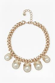 french connection faux pearl pendant necklace