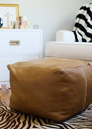 diy leather pouf  giveaway with the leather hide store  the