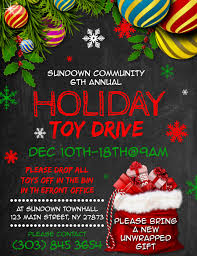 Food Drive Flyers Templates Christmas Toy Drive Flyer Template Magdalene Project Org