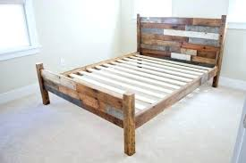 Affordable Queen Bed Frame Queen Wood Headboard Pallet Wood Queen ...
