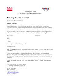 Internship Letter Of Recommendation Free Resumes Tips