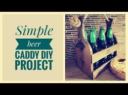 custom hardwood beer caddy