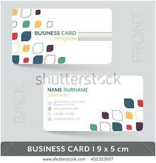 Presentation Card Template Business Card Presentation Template Fresh