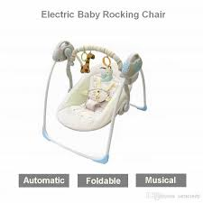 2018 !Electric Baby Bouncers Electric Rocking Chair Kid Cradle Baby ...