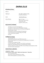 First Time Resume Examples Resume Samples For First Job First Time