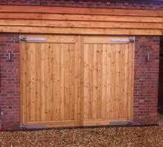 hinged wooden garage doors designs