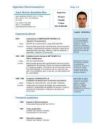 Curriculum Modelo 1 El Blog Del Curriculum