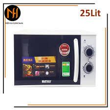 Lò vi sóng 25L Matika MTK-9225 có 3 chức năng: Nướng, hâm nóng, rã đông thức  ăn tự cài đặt theo trọng lượng - Lò vi sóng Thương hiệu MATIKA