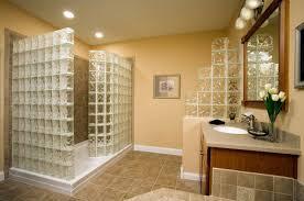 Bathroom With Tiles Bathroom Neutral Bathroom With Uniqe Textured Glass Tiles On